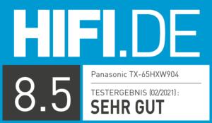 HIFI.DE-Testsiegel_Panasonic TX 65 HXW904