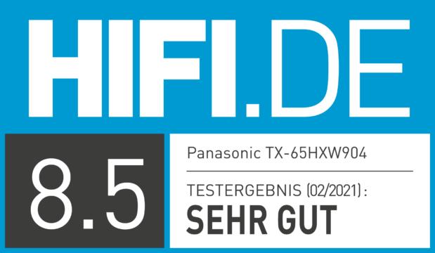 HIFI.DE Testsiegel für Panasonic TX-65HXW904