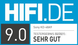 HIFI.DE Testsiegel für SONY KD-48A9