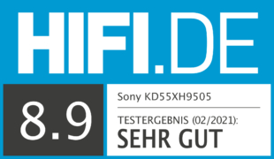 HIFI.DE Testsiegel für Sony XH95 im Test: Spitzenbild und Android-TV
