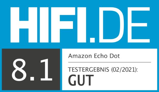 HIFI.DE Testsiegel für Amazon Echo Dot