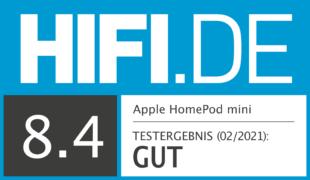 HIFI.DE Testsiegel für Apple HomePod mini im Test – Der bessere HomePod