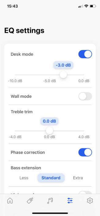 KEF LS50 Wireless II | App: Klangeinstellungen