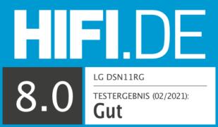 HIFI.DE Testsiegel für LG DSN11RG im Test: Dolby Atmos Soundbar mit Kino-Qualitäten?