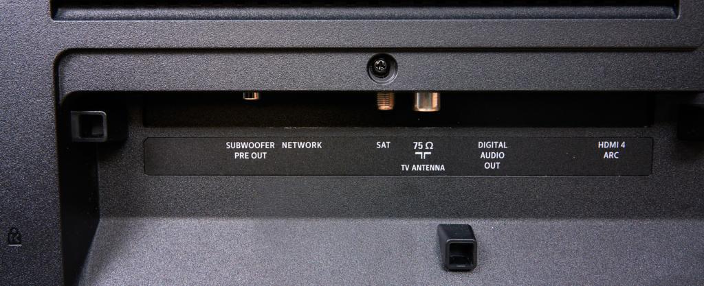 Philips OLED 935 untere Anschlüsse