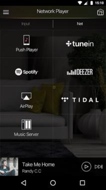 Pioneer Remote App - Streamingdienste