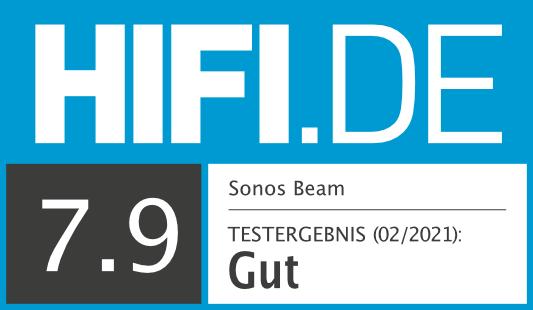 HIFI.DE Testsiegel für Sonos Beam
