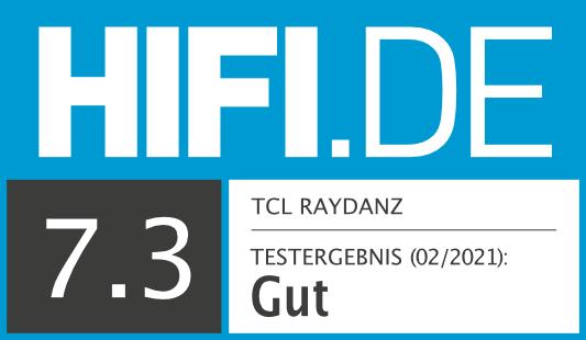HIFI.DE Testsiegel für TCL Raydanz