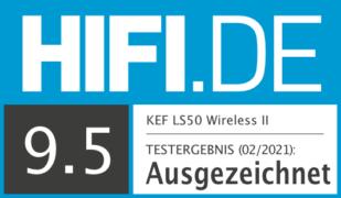 HIFI.DE Testsiegel für KEF LS50 Wireless II im Test: Smarter Aktiv-Lautsprecher mit HiFi-Klang