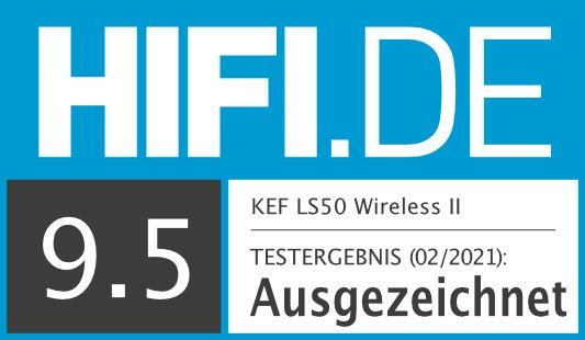 HIFI.DE Testsiegel für KEF LS50 Wireless II