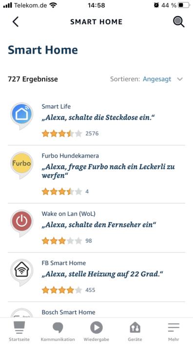 Amazon Alexa Smart Home Skills