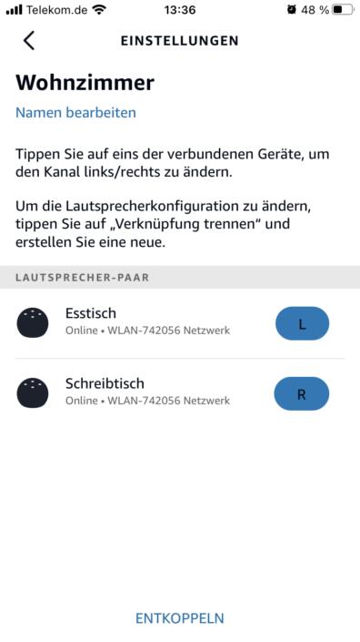 Amazon Echo Gruppierung