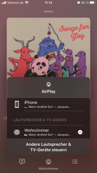 Apple HomePod mini AirPlay Übertragung