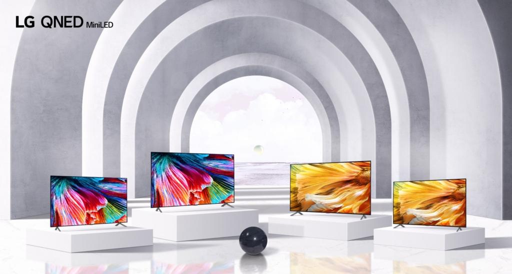 LG setzt 2021 erstmals mit den QNED auf Mini-LED-Technik.