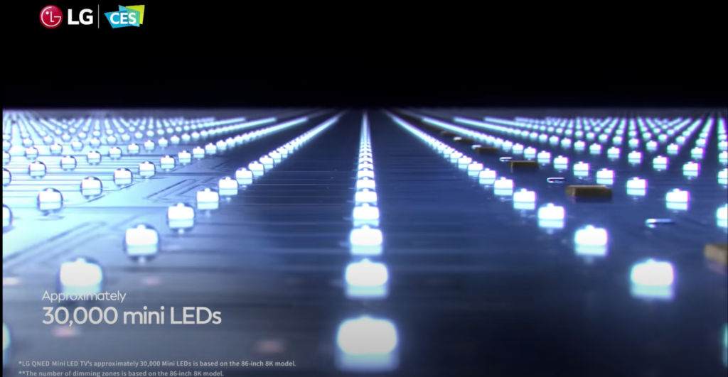 LG verbaut bis zu 30.000 LEDs in den Mini-LED-Modellen. | Bild: LG