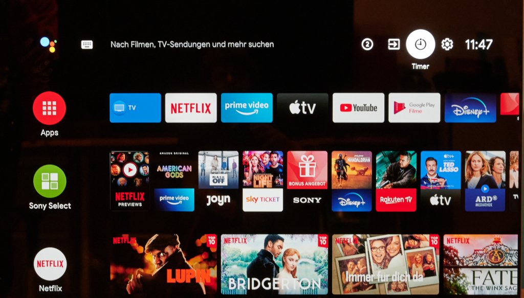 Android TV auf dem SONY A9