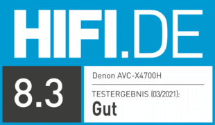 HIFI.DE Testsiegel für Test Denon AVC-X4700H: Hochwertiger AV-Receiver mit Auro3D