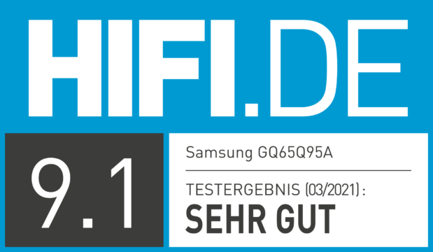 HIFI.DE Testsiegel für Samsung GQ65Q95A