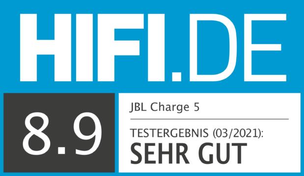 HIFI.DE Testsiegel für JBL Charge 5