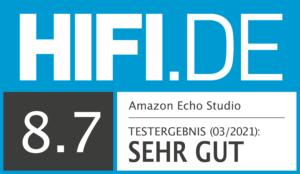 HIFI.DE Testsiegel 8,7 Sehr gut