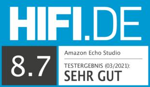 HIFI.DE Testsiegel für Amazon Echo Studio im Test: Das Topmodell von Amazon