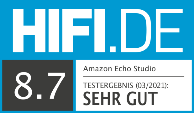 HIFI.DE Testsiegel für Amazon Echo Studio