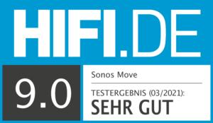 Sonos Move Testsiegel 9,0 Sehr gut
