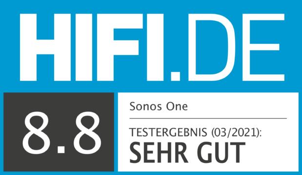 HIFI.DE Testsiegel für Sonos One