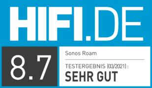 HIFI.DE Testsiegel für Sonos Roam im Test: Bluetooth Line-In für dein Sonos System