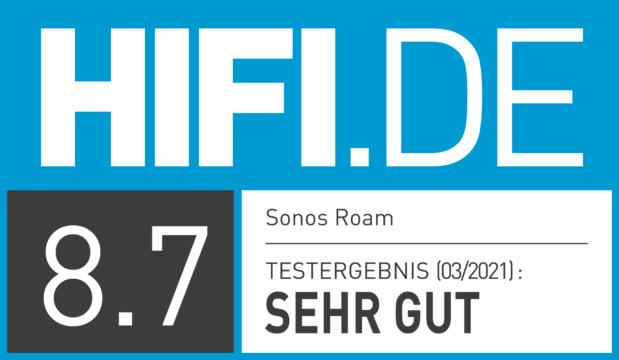 HIFI.DE Testsiegel für Sonos Roam