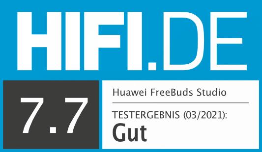 HIFI.DE Testsiegel für Huawei FreeBuds Studio
