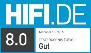 HIFI.DE Testsiegel für Marantz SR5015 im Test: Atmos-Receiver mit 8K und Musik im Blut
