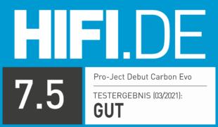 HIFI.DE Testsiegel für Pro-Ject Debut Carbon Evo im Test: Günstiger HiFi-Klang für Vinyl-Fans