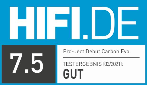 HIFI.DE Testsiegel für Pro-Ject Debut Carbon Evo