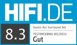 HIFI.DE Testsiegel für Dolby Atmos Test: Surround Set aus Sonos Arc, Sub und One