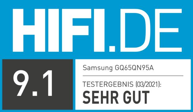 HIFI.DE Testsiegel für Samsung QN95A