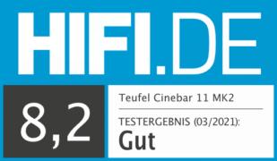 HIFI.DE Testsiegel für Teufel Cinebar 11 im Test – Neue Version, alter Preis, Hammersound
