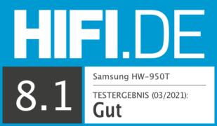 HIFI.DE Testsiegel für Samsung HW-Q950T im Test: Samsung Topmodell mit Dolby Atmos