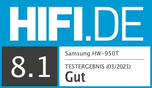 HIFI.DE Testsiegel für Samsung HW-Q950T