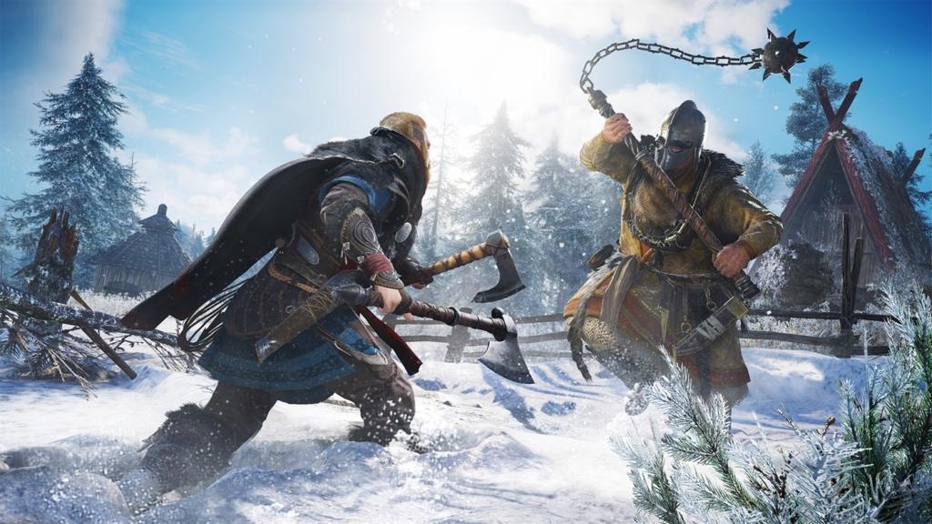 """Ubisofts """"Assassin's Creed Valhalla"""" hat tatsächlich an der Xbox Series X ohne VRR Probleme mit Tearing und Rucklern."""