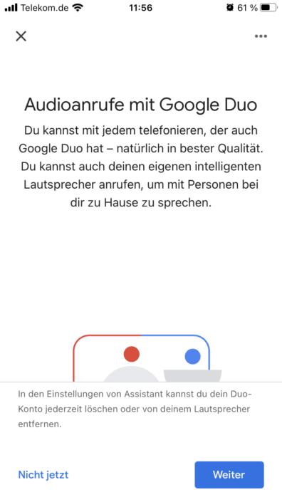 Google Home App Duo