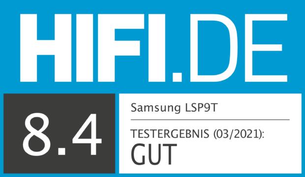 HIFI.DE Testsiegel für Samsung The Premiere LSP9T