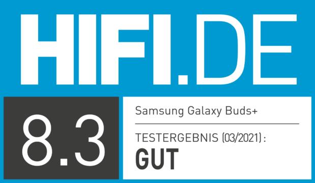 HIFI.DE Testsiegel für Samsung Galaxy Buds+