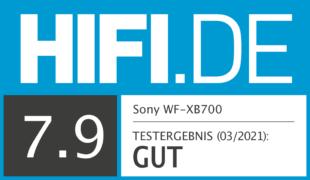 HIFI.DE Testsiegel für Sony WF-XB700