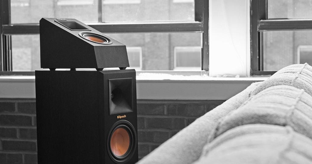 Dolby Atmos Enabled: Upfiring Lautsprecher statt Deckenlautsprecher