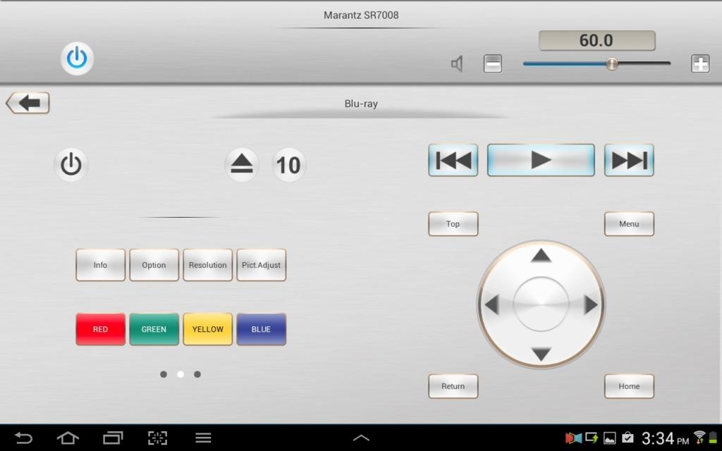 Marantz Remote App Tablet quer