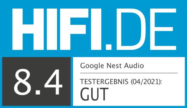 HIFI.DE Testsiegel für Google Nest Audio