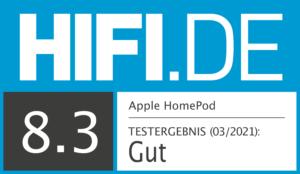 Apple HomePod Testsiegel Gut 8,3