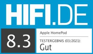 HIFI.DE Testsiegel für Apple HomePod im Test – sollte man im Ausverkauf noch zuschlagen?