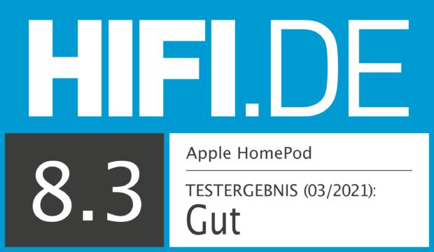 HIFI.DE Testsiegel für Apple HomePod